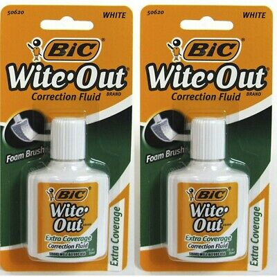 3pk Bic Wite-Out Quick Dry Correction Fluid - white color writeout **Free Ship**