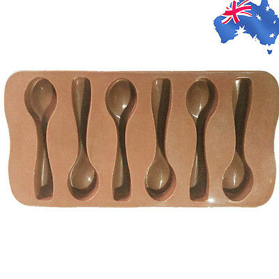 Silicone Chocolate Mould Mold Spoon Candy Cookie DIY Baking Fondant HKIMO 6399
