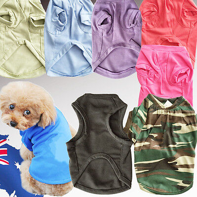 Cute Small Pet Dog Doggy Clothes Costumes Soft T Shirt Vest Apparel PWEAR2