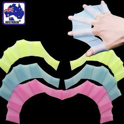 Swimming Finger Webbed Frog Hand Injection Silicone Fins Flipper Paddle OSWHA 32