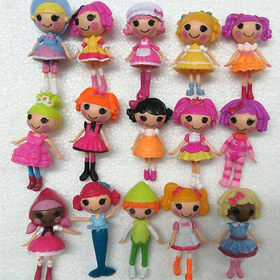 8 pcs 3'' Lalaloopsy Doll Dolls Toys Action Figures PVC Playset Kids Gift CUTE