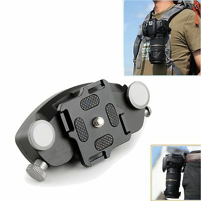 Strong DSLR Camera Fast Loading Quick Setup Waist Belt Buckle Mount Clip Adapter