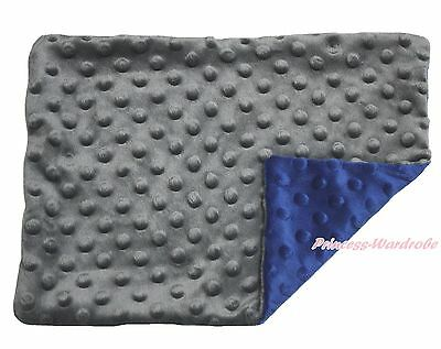 Toddler Baby Infant Newborn Gray Blue Minky Dots Spotted Pillow Cover Pillowcase