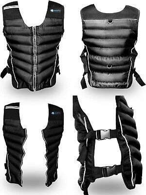 BodyRip Weighted Vest 10kg Jacket Strength Training Running Weight Loss Gym Fit