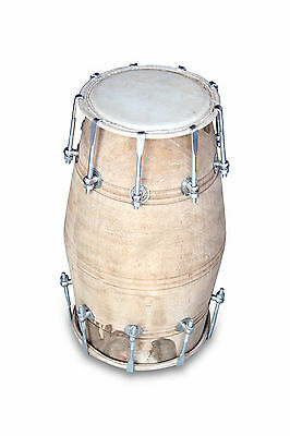 Handmade Bolt Tuned Indian Mango Wood Musical Dholak Bhajan Kirtan Use 048
