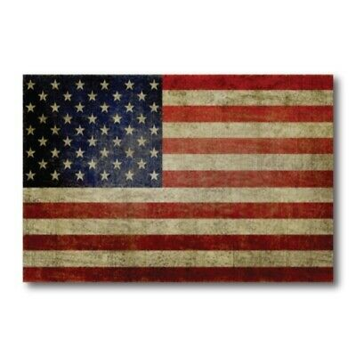American Flag Magnet 4x6 inch Weathered Flag Decal for Car Truck SUV or Fridge