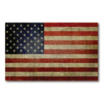 Weathered American Flag Magnet Large Size 5x8 inch Decal for Car Truck or Fridge