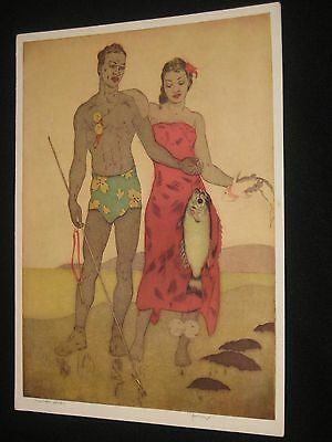 Royal Hawaiian Hotel Vintage Menu John Kelly Fisherman Hawaii 12/27/52 Guar Old