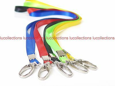 Lot of 100 Neck Flat Lanyard Polyester Swivel Clasp ID Badge Holder H180