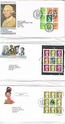 Great Britain - 12 Prestige Booklet Pane First Day Covers