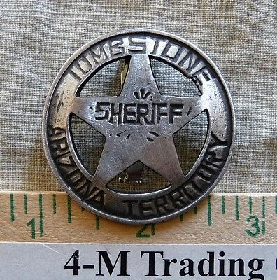 Tombstone Sheriff Az Terr. (Collectable) (Badges Of The  Old West) Free Shipping
