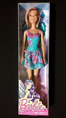 Barbie Fairytale Doll Purple and Teal Flowers Outfit MATTEL
