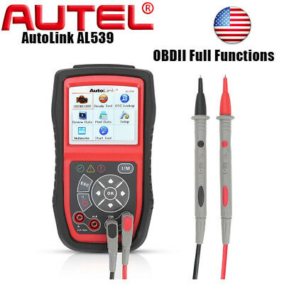 AUTEL AutoLink AL539 OBDII CAN Code Reader Electrical Test Tool with AVO Meter