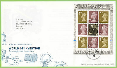 G.B. 2007 World of Invention booklet pane Royal Mail First Day Cover, Menai