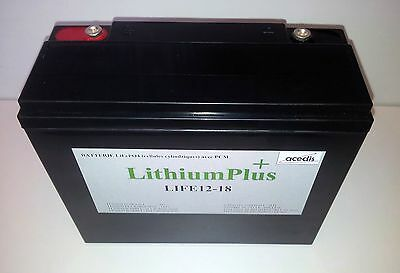 BATTERIE LITHIUM 12V 18Ah  LIFEPO4  Exemple: golf 2000cycles