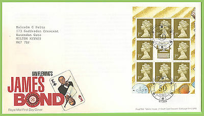 G.B. 2008 James Bond booklet pane Royal Mail First Day Cover, London