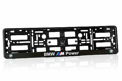 Black BMW M Power ABS Number Plate Surround Holder Frame for BMW M Power