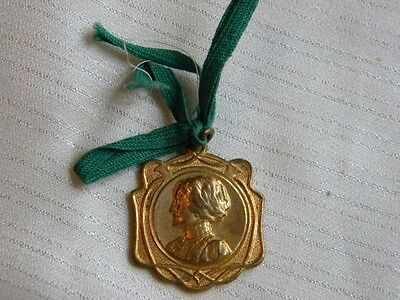 Antique Metal Medal Merit Prize Perseverance Enameled 1925 Coins & Paper Money