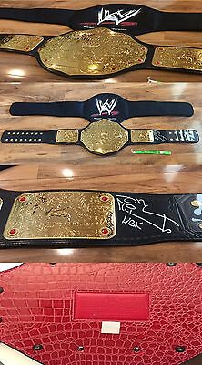 Shawn Michaels Signed WWE Heavy Weight Champion Commemorative Title Belt COA/Hol