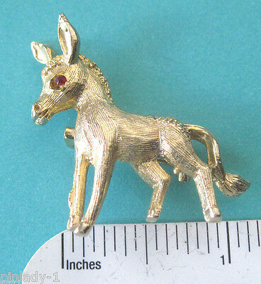 DONKEY , burrow scatter pin - hat pin , lapel pin , brooch GIFT BOXED