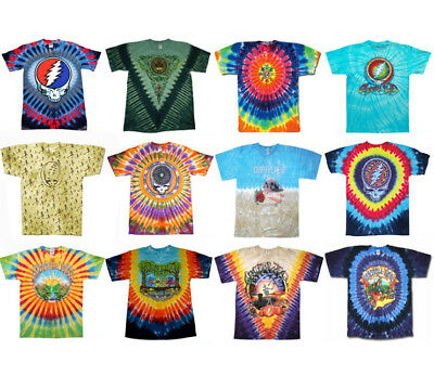 GRATEFUL DEAD T-Shirts Tie Dye 50th Anniversary New Authentic Licensed S-2XL