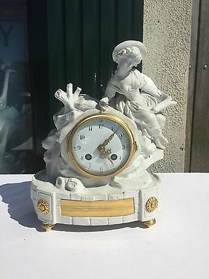 An Antique Bisk French Mantle Clock