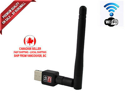 WiFi Wireless USB Adapter LAN Card Mini 150M 802.11n/g/b with Wireless Antenna