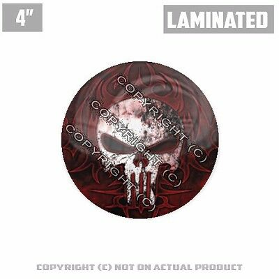 "1 Custom Thick Laminated Glossy 4/"" 3M Premium Decal Sticker PUNISHER SKULL METAL"