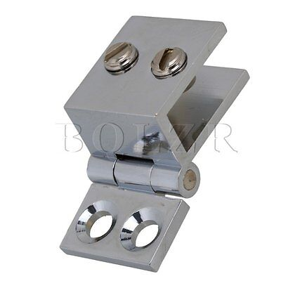 Silver 90 Degree Silver Clamp Hinge for Shower Bathroom Furniture Door