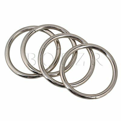 20pcs 38mm Metal O-Ring O Ring Non Welded Nickel Plated For Purse Making Craft