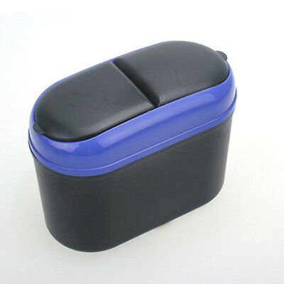 Mini Rectangle Car Dust Box Case Holder Bin Dustbin Trash Rubbish Can Garbage