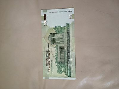 1X Iran, 100,000 Rials, 100000  Paper Money UNC Khomeini, Collectible CURRENCY