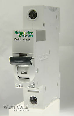 Schneider Acti 9 - A9F54132 - 32a Type C Single Pole MCB Latest Model Used
