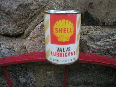 SHELL VALVE LUBRICANT OIL CAN BANK Paper Label