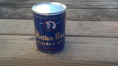 MOTHER PENN MOTOR OIL CAN NEW Paper Label