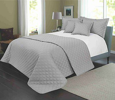 Egyptian Cotton Multi Quilted Plain Bedspread To Fit Double/king