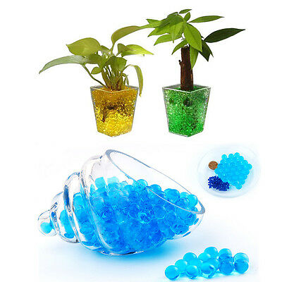 Colorful Water Flower Plant Jelly Crystal Soil Mud Hydro Gel Pearls Beads Balls