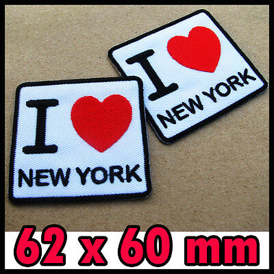 1x I Love NEW YORK Red Heart Iron On Patch Souvenir Travel United States NY City