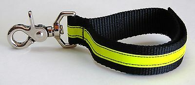 Sav-A-Jake Firefighter Glove Strap Trigger Snap Black w/3M Yellow Reflective