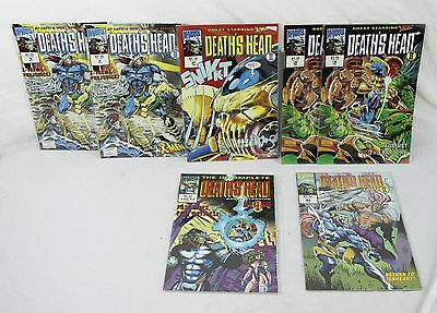 Lot of 7 Marvel Comics Deaths Head 2x Issue 1, 2, 2x 3, 6 & 1 of 12 Incomplete