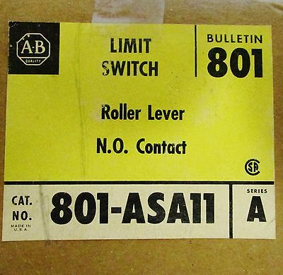 ALLEN BRADLEY 801 ASA11 Roller Lever N.O. Contact Limit Switch