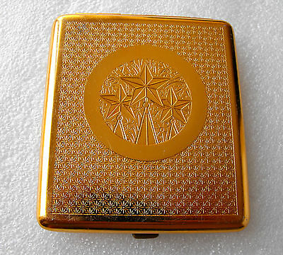 Vintage Spectacular Thin Soviet Cigarette case USSR Red Star Excellent accessory