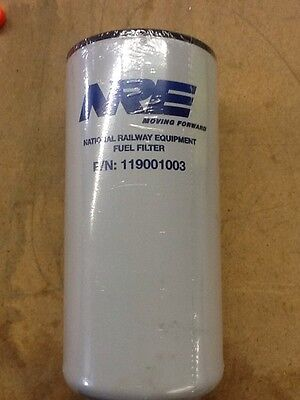National Railway Equipment Fuel Filter P/N:119001003 - 1 Filter/Pack