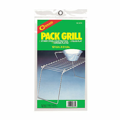 """Coghlan's Pack Grill - 12 1/2"""" X 6 1/2"""", Camping, Outdoors, Chrome Plated"""