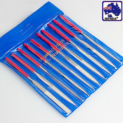 10pcs Diamond Needle Files Set 140 160 180mm Glass Carving Craft Metal TDRFI 07