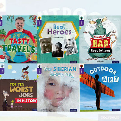 Oxford Reading Tree inFact: Level 11, 6 Books Collection Set (Tasty Travels) New