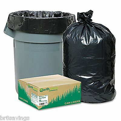 New 80 Large 33 Gallon Commercial Trash Can Bags Heavy Garbage Duty Yard