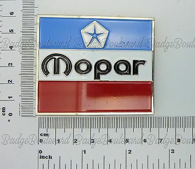 Chrysler Dodge Valiant Mopar 3 Colour Square Belt Buckle