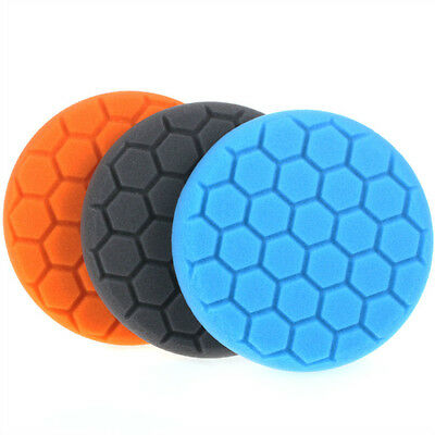 3Pc 3/4/5/6/7 inch Hex-Logic Buff Polishing Pad kit For Car Polisher -select set