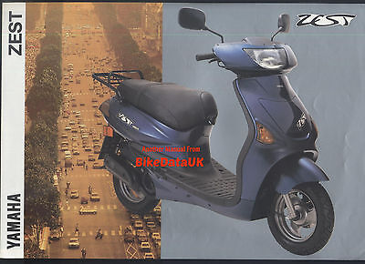 Yamaha-UK YE50 Zest (1993) Dealership Sales Brochure YE 50 (4FX) Scooter/Moped